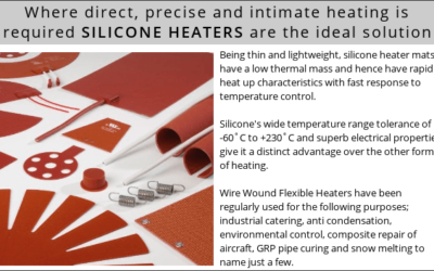 Where direct, precise and intimate heating is required SILICONE HEATERS are the ideal solution